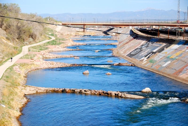 The Pueblo Whitewater Park has Class 1, 2, and 3 features.