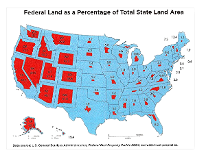 Federal vs. State Land in the US