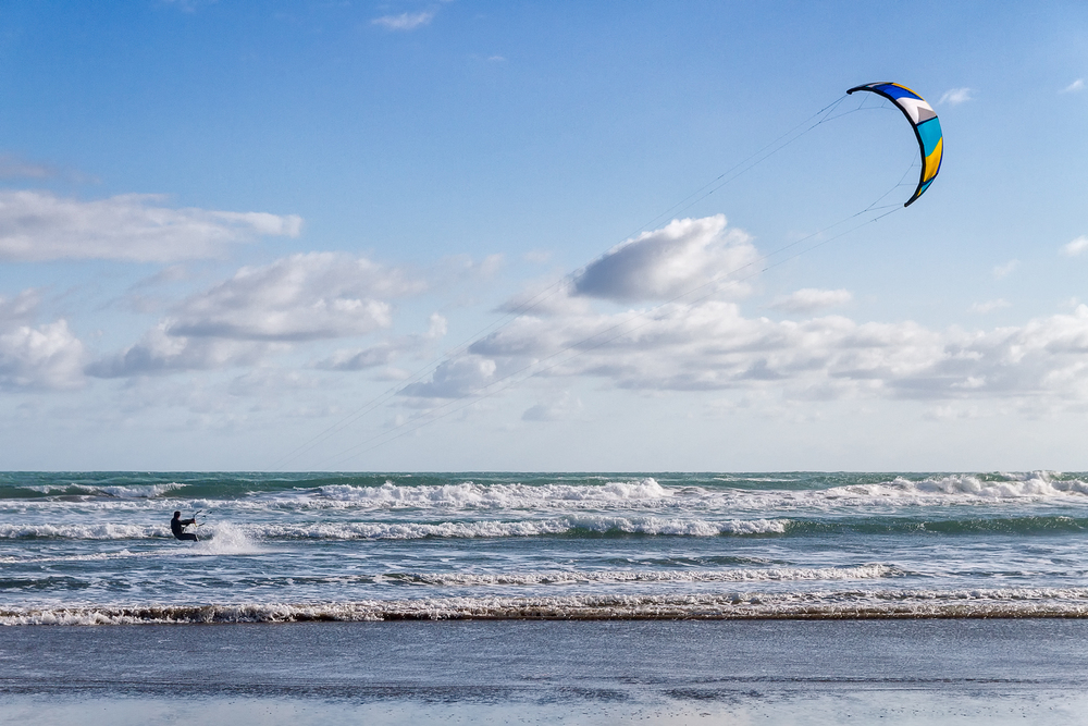 The place has loads of kite surfers, it appears kite surfing is now more popular than regular surfing.
