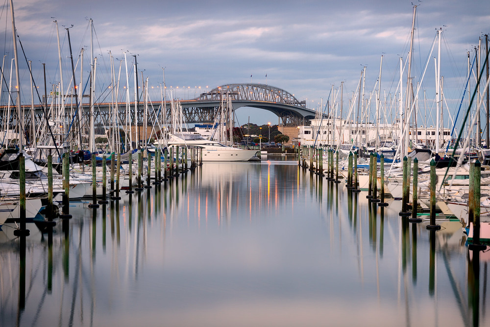 Westhaven Marina at Dusk  . 50mm | 6.0 sec | f16 | ISO100
