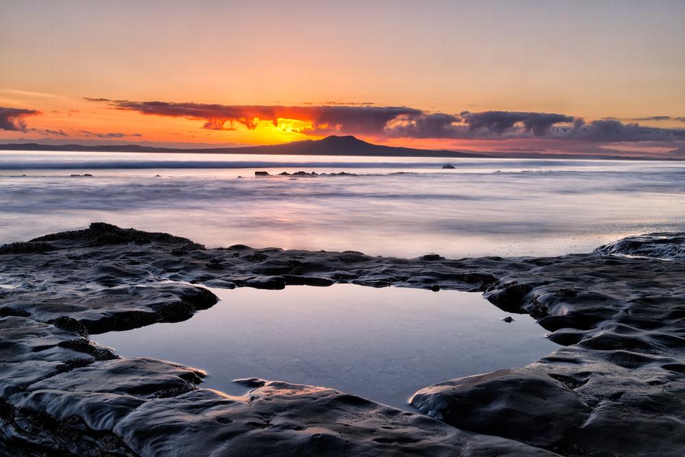 Rangitoto Sunrise  . 26mm| 3x exposures @ 1.0,4.0 & 10 sec | f16 | ISO100
