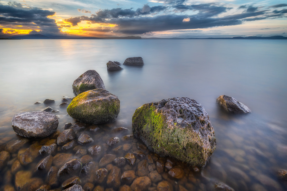 Anzac Eve Sunset, Lake Taupo | 16mm | 3 exposures @ 30, 15 and 8 sec | f16 | ISO100