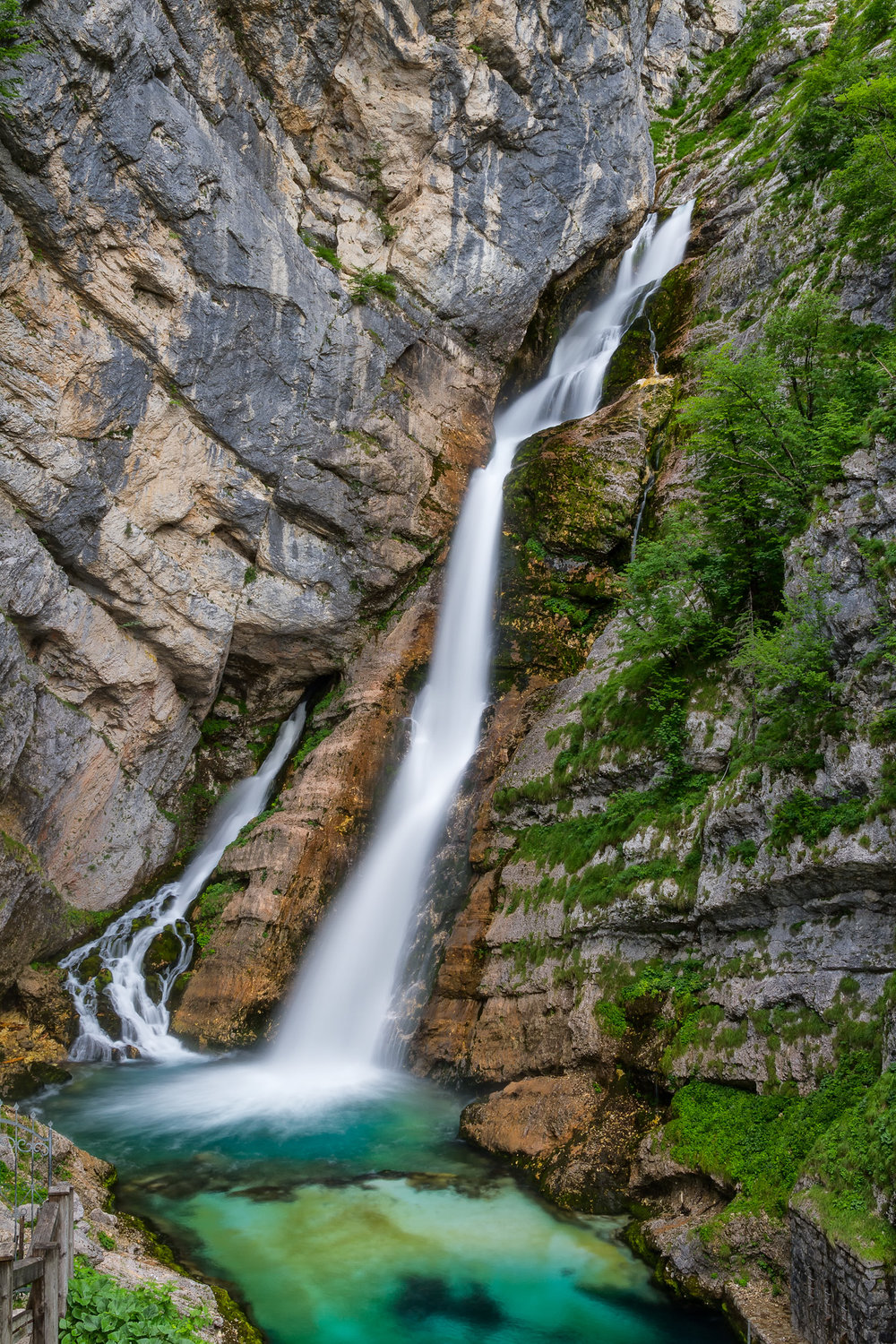Savica Waterfall.