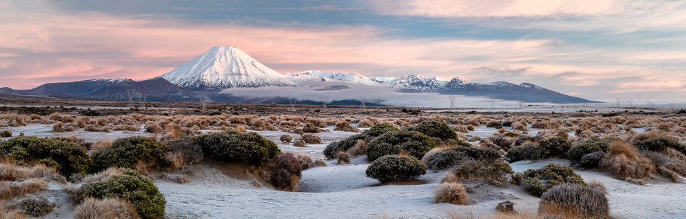 Mt Ngauruhoe and Tongarirp Panorama