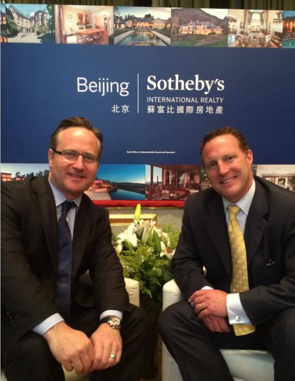 Image Courtesy of RSIR -Dean Jones (left) and Kevin Corbett, Beijing Luxury Property Show