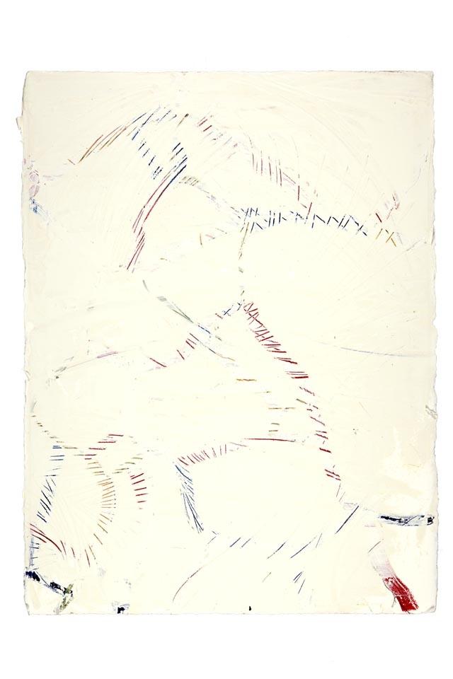 "Wood Grain  Audubon Park, New Orleans  (Sidewalks Series)  oil on paper  30"" x 22"""