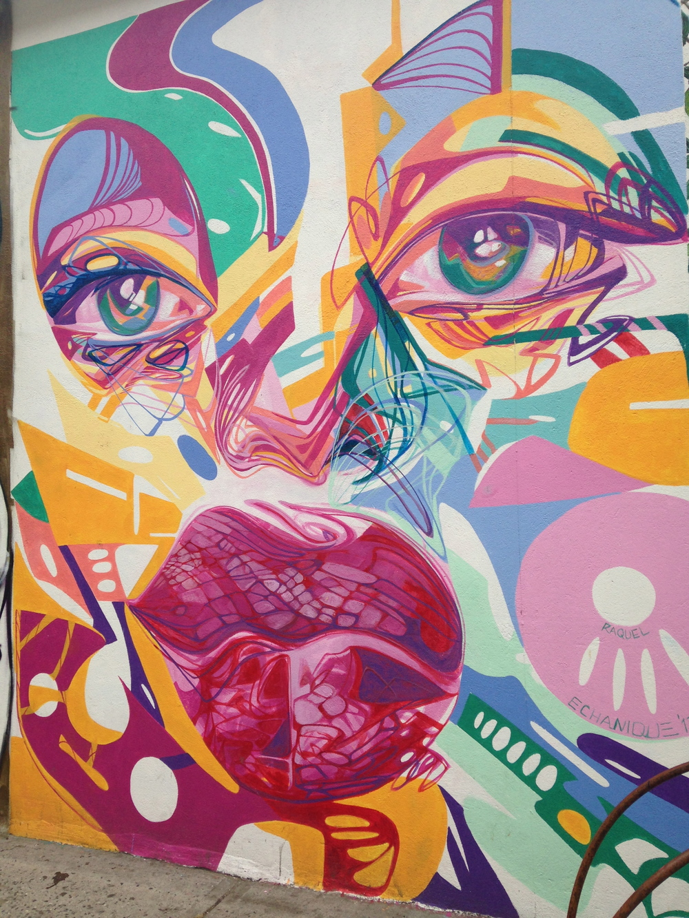 This was by far my favorite piece. The choice of colors and the abstraction of her face is perfect.