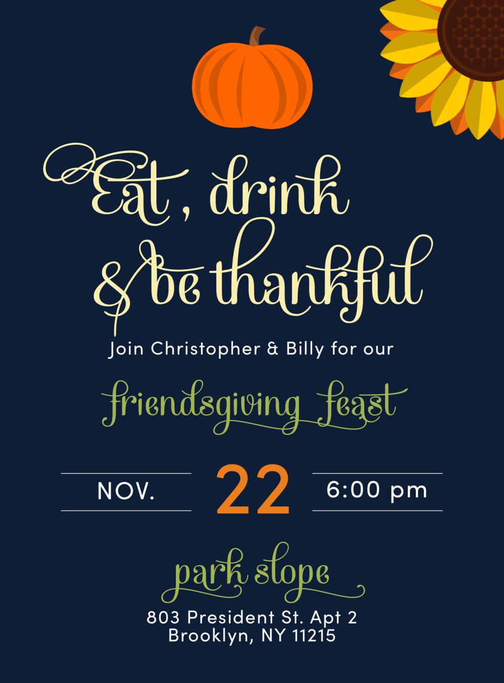 Thanksgiving Dinner Invite