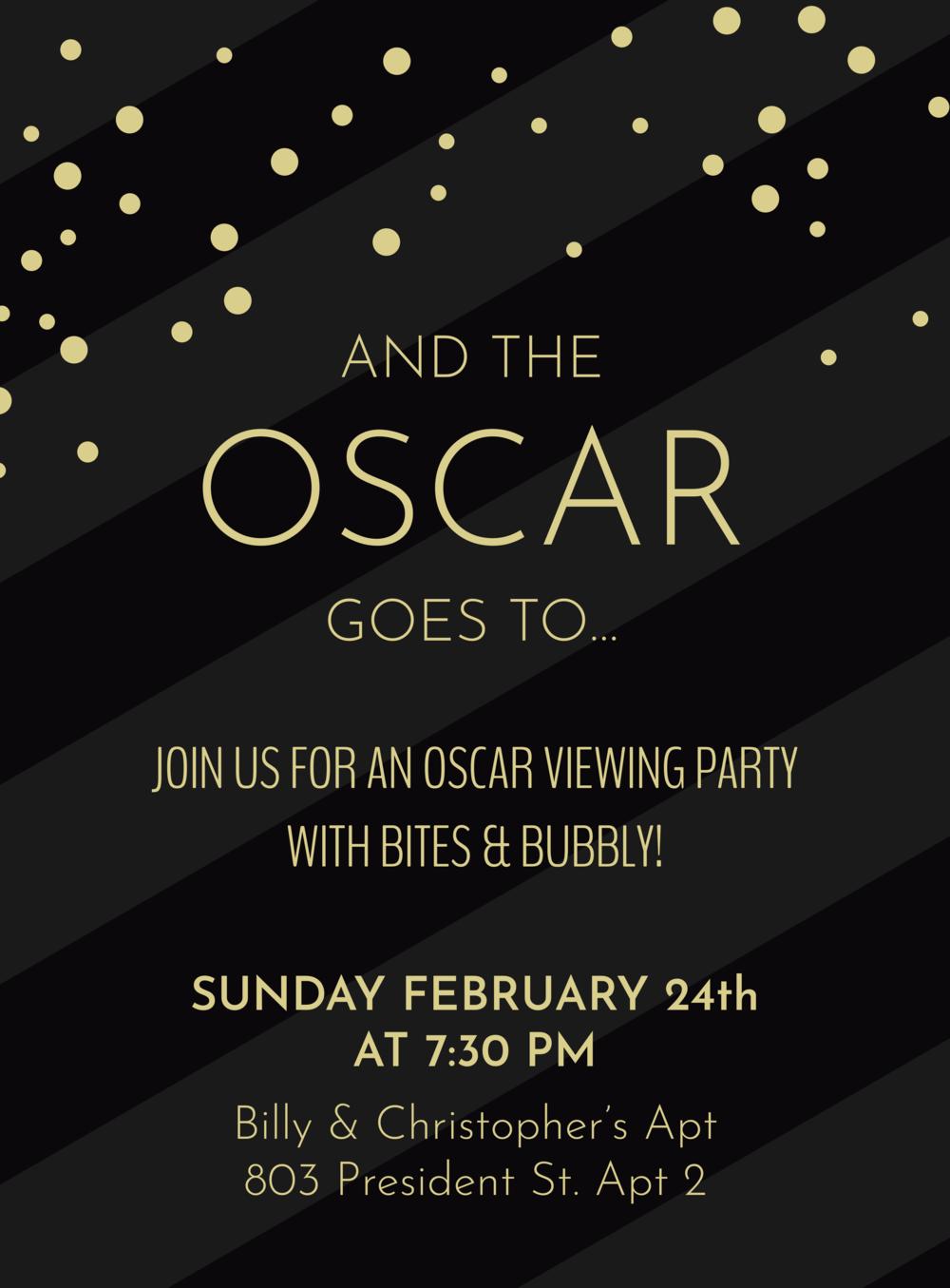 Oscars Party Invite