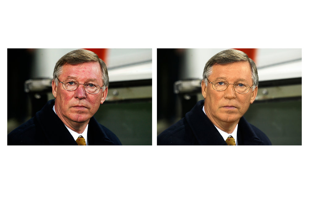 I found this portrait of Sir Alex Ferguson on the internet and thought I would see what I could do with it. Sir Alex is the manager of a British sports team. I think the sport is either cricket, soccer, rugby, or quidditch. The photo was taken by Phil Cole. CC is welcome.