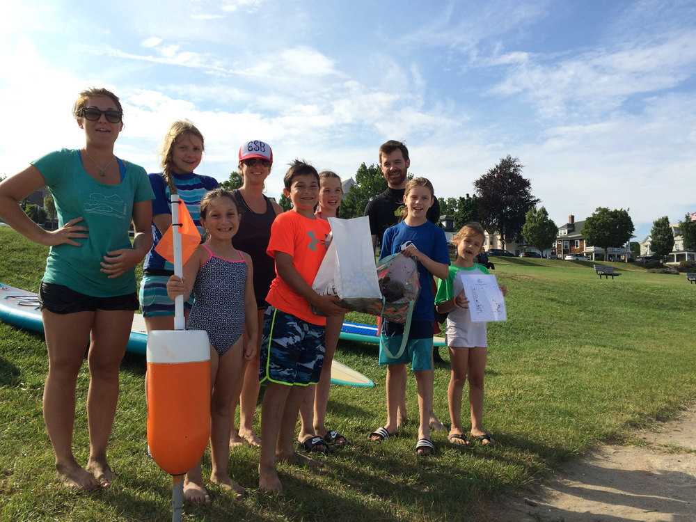 Paddleboard clean up with Keith from NOAA