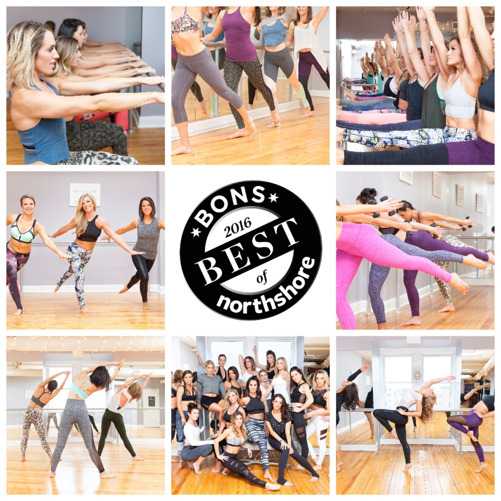 The Energy Barre with locations in Stoneham, Beverly, and Medford was voted BONS 2016 BEST Barre Class!