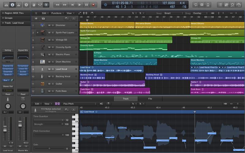 Logic Pro X recording facility