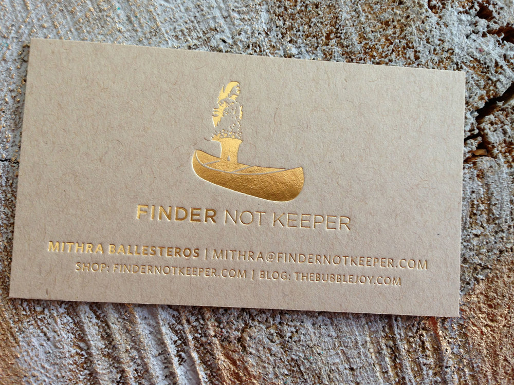 Finder Not Keeper Business Card