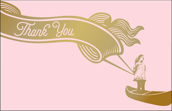 Thank You card designed by Catherine Brautigam of Lone Shoe Graphics.
