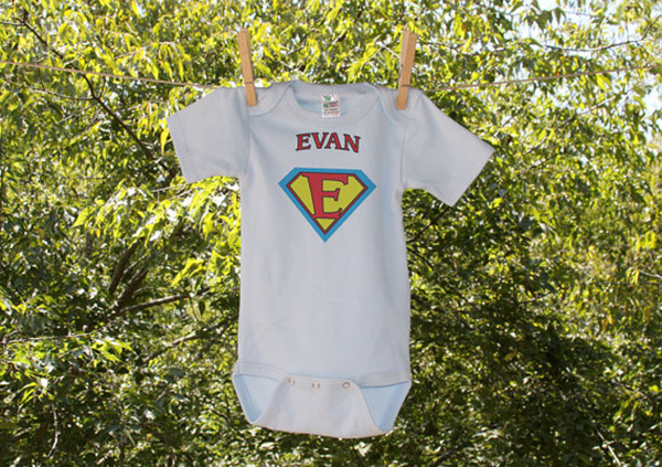 Personalized Superchild Infant Bodysuit from  Nesting Project
