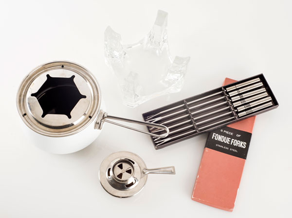 Vintage Fire and Ice fondue set from Chantal now available at    Finder Not Keeper   . Photo by Renn Kuhnen.