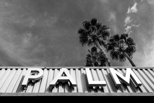 Even typography gets its own due in Palm Springs. Photo by Justin Hackworth.