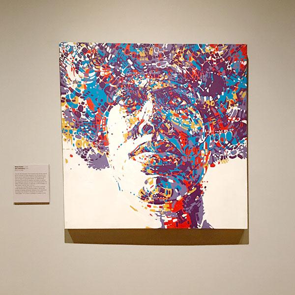 """Nelson Stevens, """"Arty"""", acrylic on canvas, 1970."""