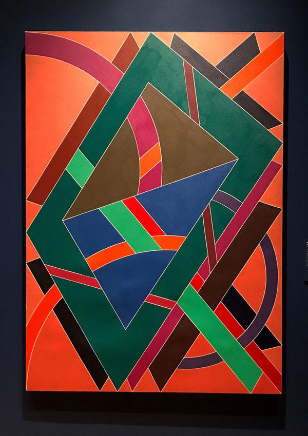 """William T. Williams, """"Truckin"""", acrylic on cotton canvas, 1969."""
