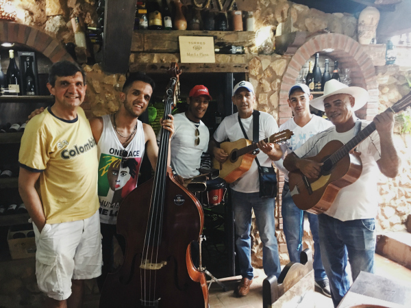If the Cubans are friendly in general, then the musicians of Cuba are on friendliness steroids. Perhaps it's simply that music is a universal language, because every time a musician in Cuba learned that our son George was also a musician,he immediately welcomed George as a new member of the band.