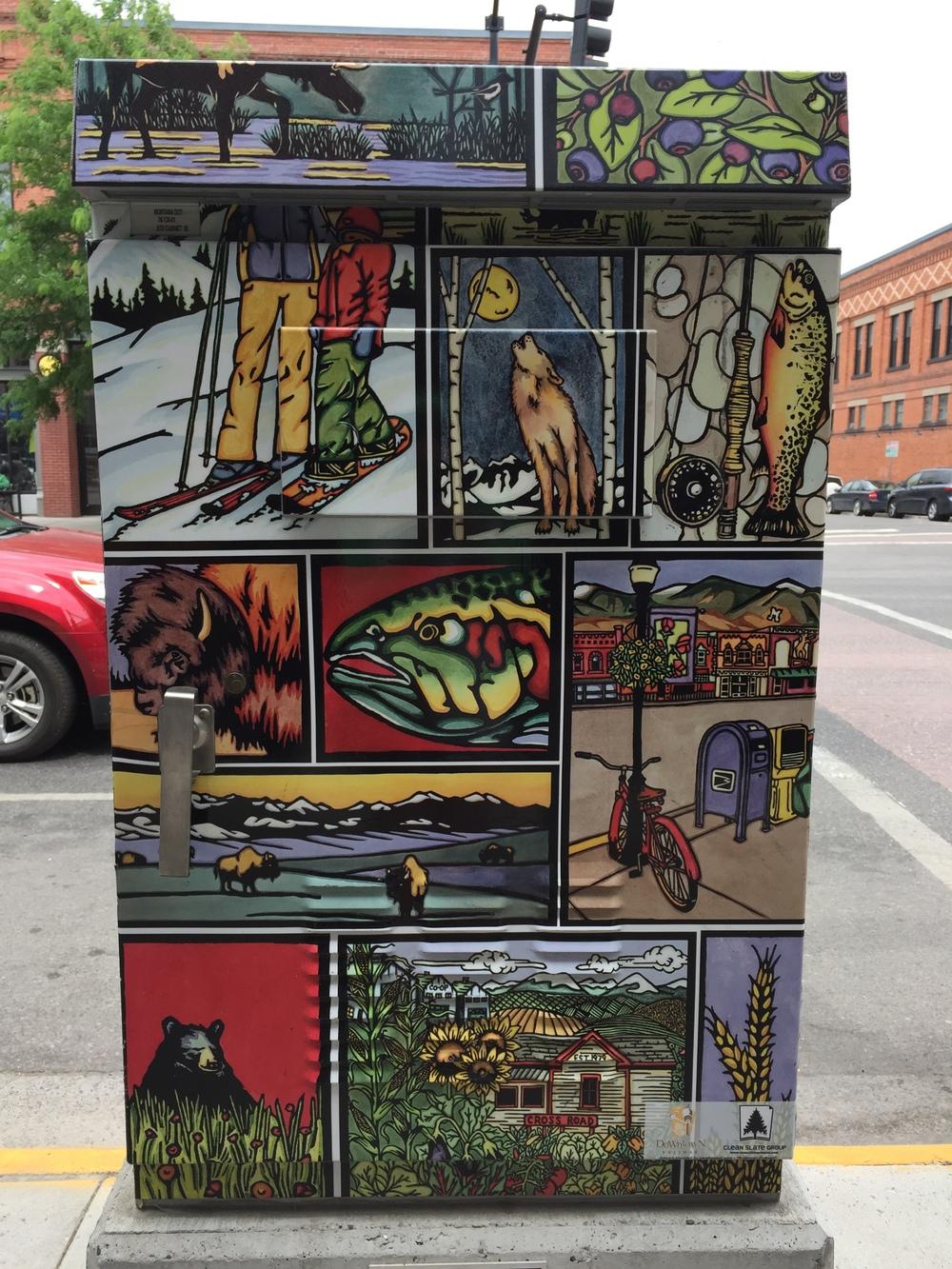 street art, Bozeman MT.