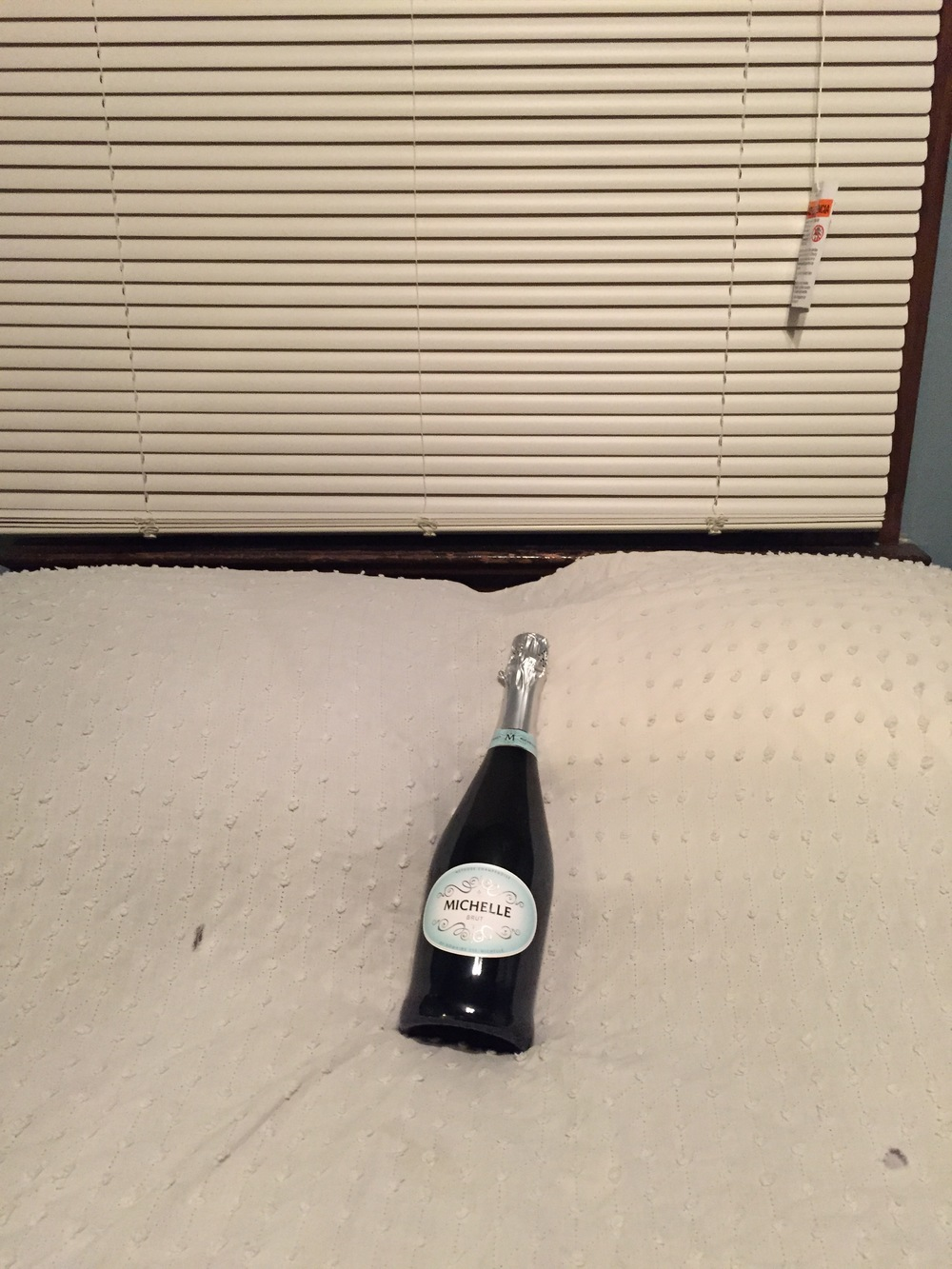 champagne in the honeymoon suite