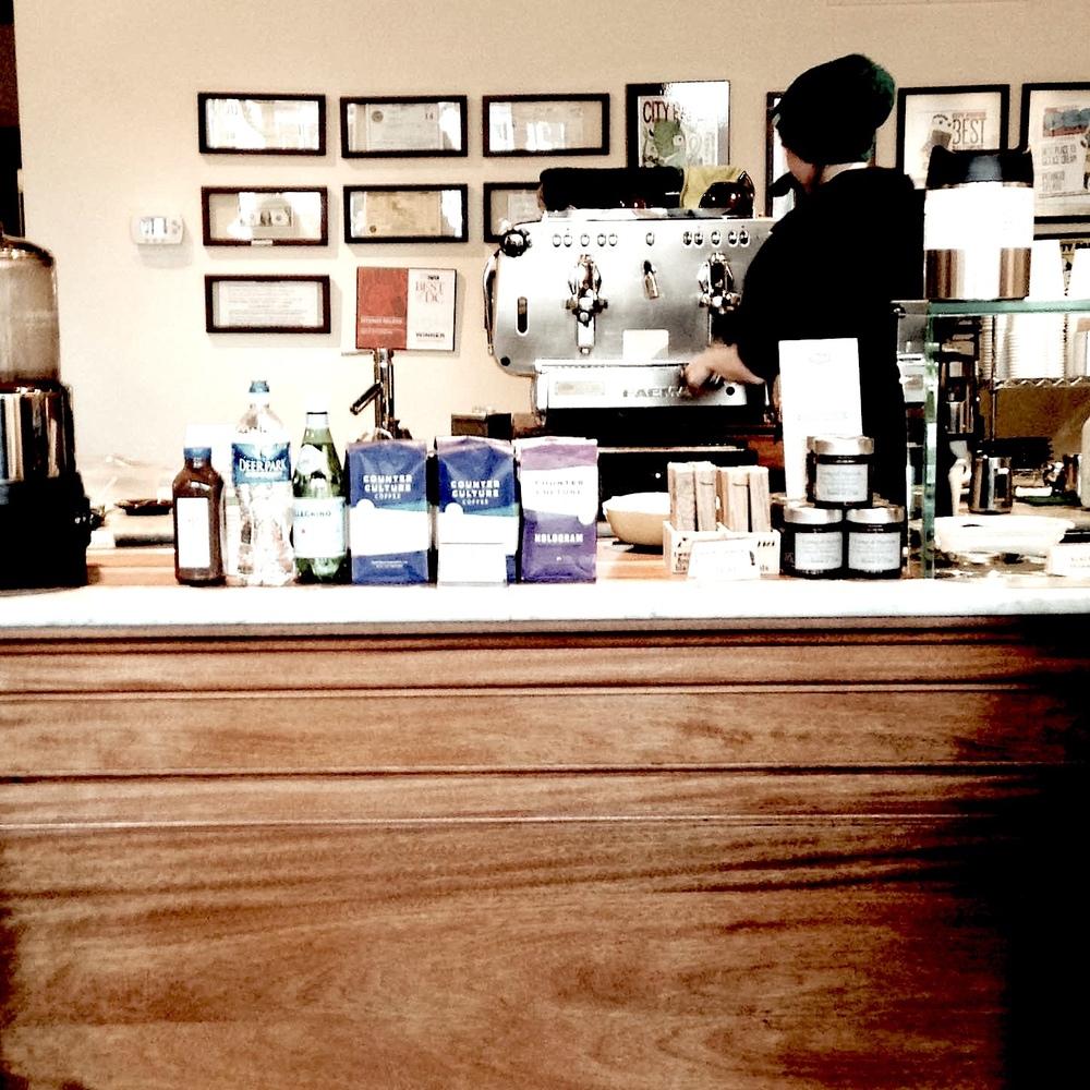 Caffeinating at Pitango Gelato & Coffee in Fells Point. Photo by Jess Velky.