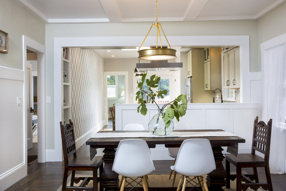 Rockridge Dining Room Interior Design and Real Estate Staging