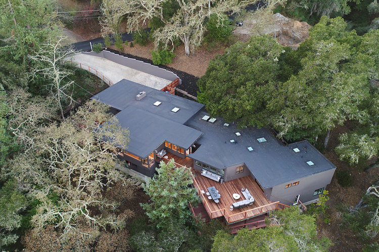 Mid-Century Modern Flat Roof at 44 Tarry Lane in Orinda