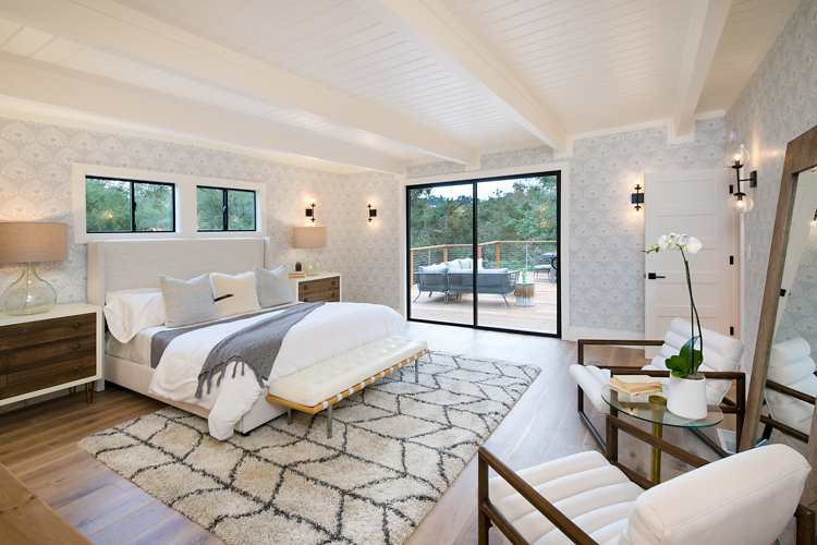 Master Bedroom Lighting at 44 Tarry Lane in Orinda