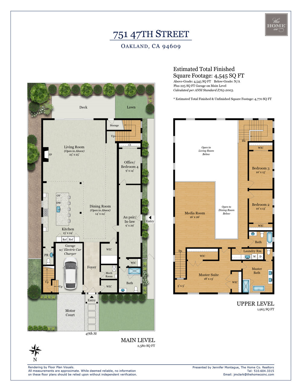 751 47th Street Temescal Oakland Floor Plan