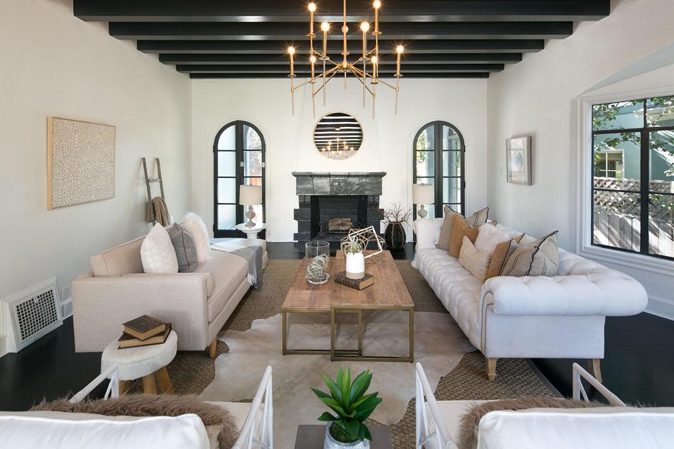 Crocker Highlands Living Room Interior Design and Staging