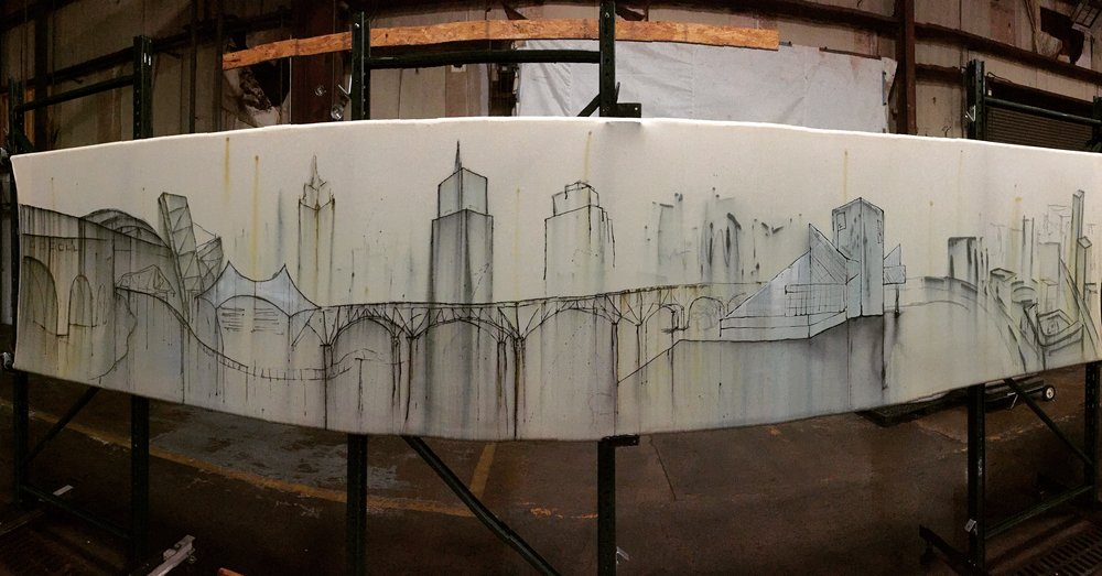 """City of Progress"" (shown unfinished)"