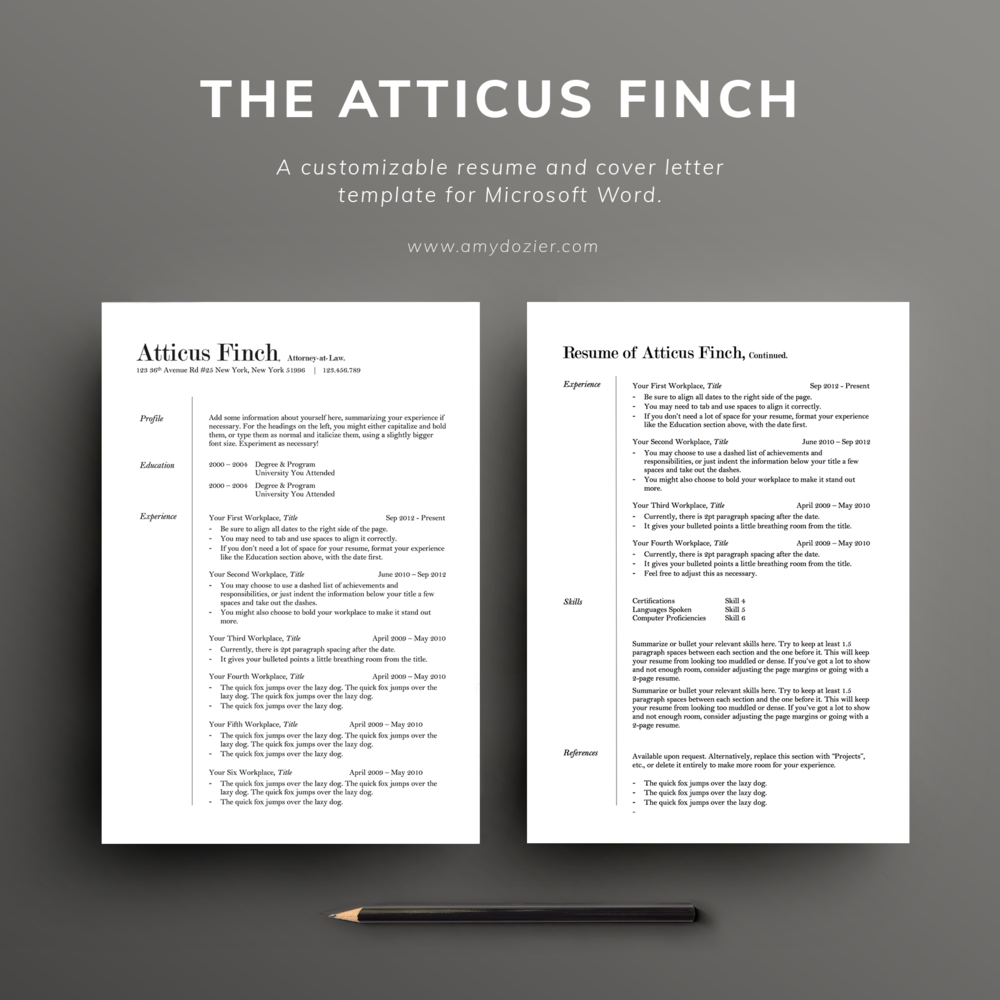 Resume Templates — Illustration & Design