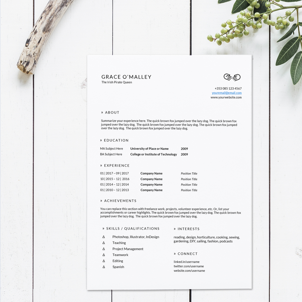 Resume Templates  Illustration  Design