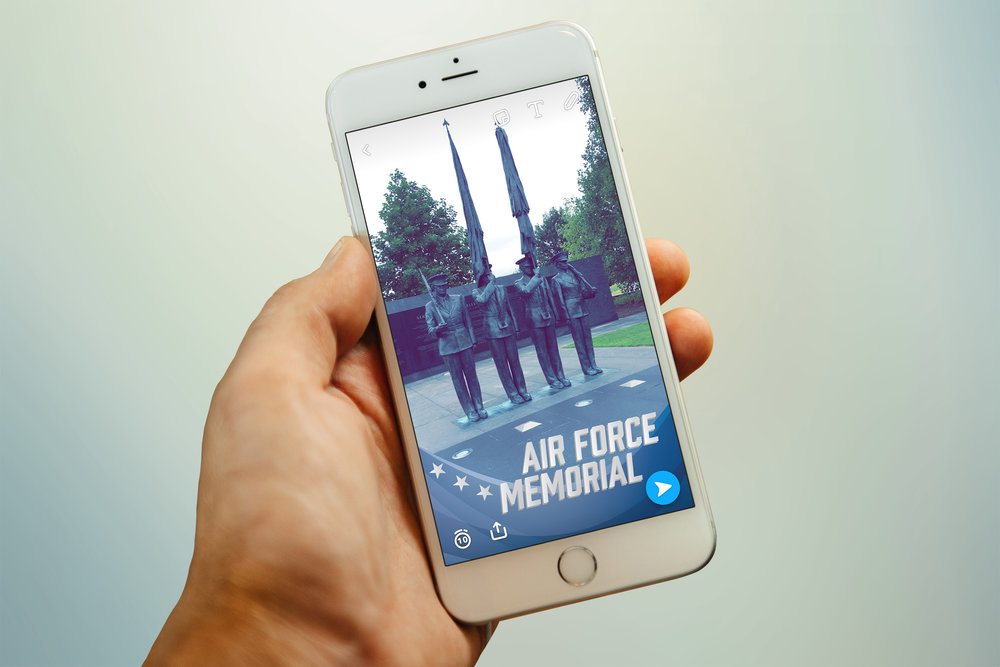 Snapchat filter for the Air Force Memorial