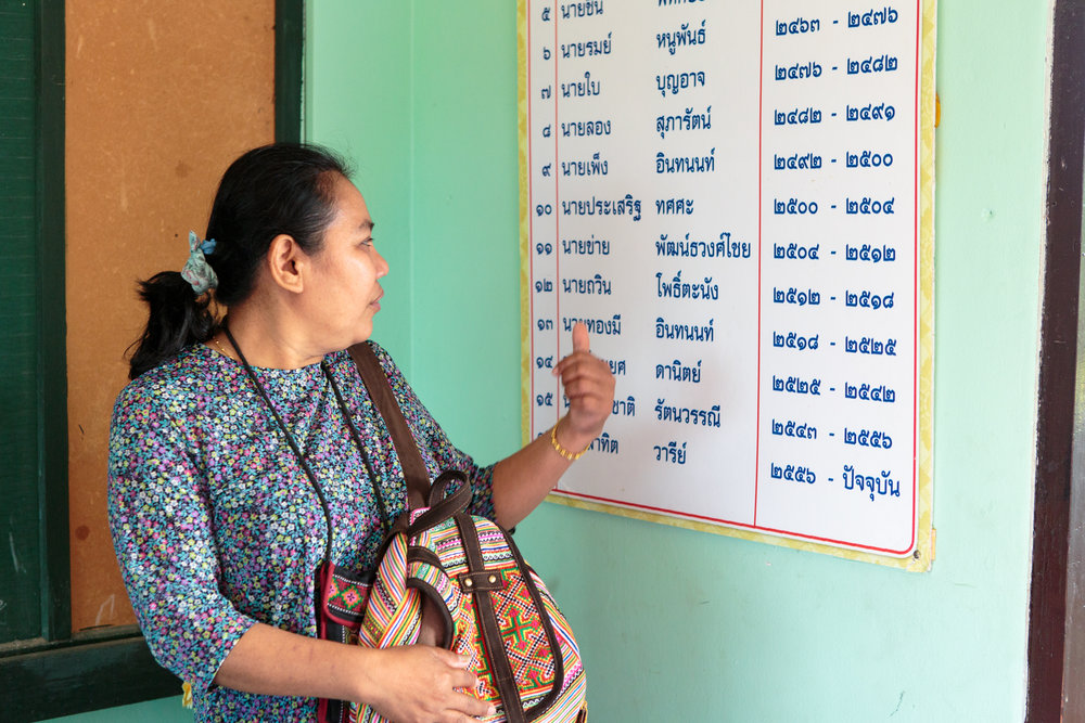 Wandee finds the name of one of her primary school teachers.