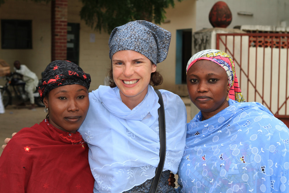 Me and two of the health workers. Wonderful women.