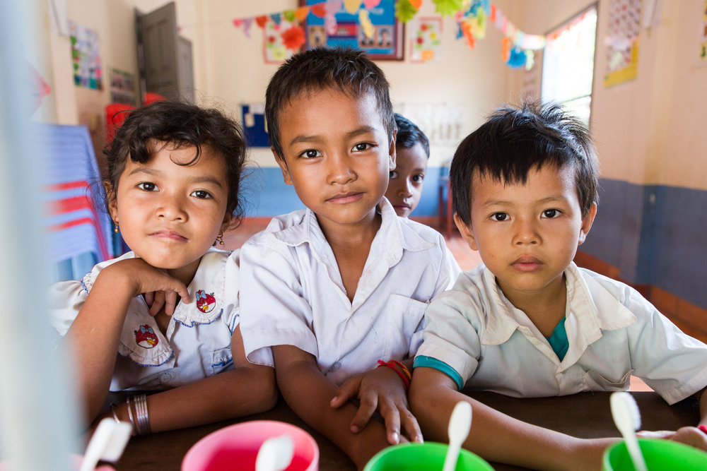 Children attending the Mekong Blue school