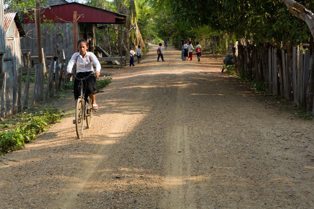 Main road on Koh Phdao.