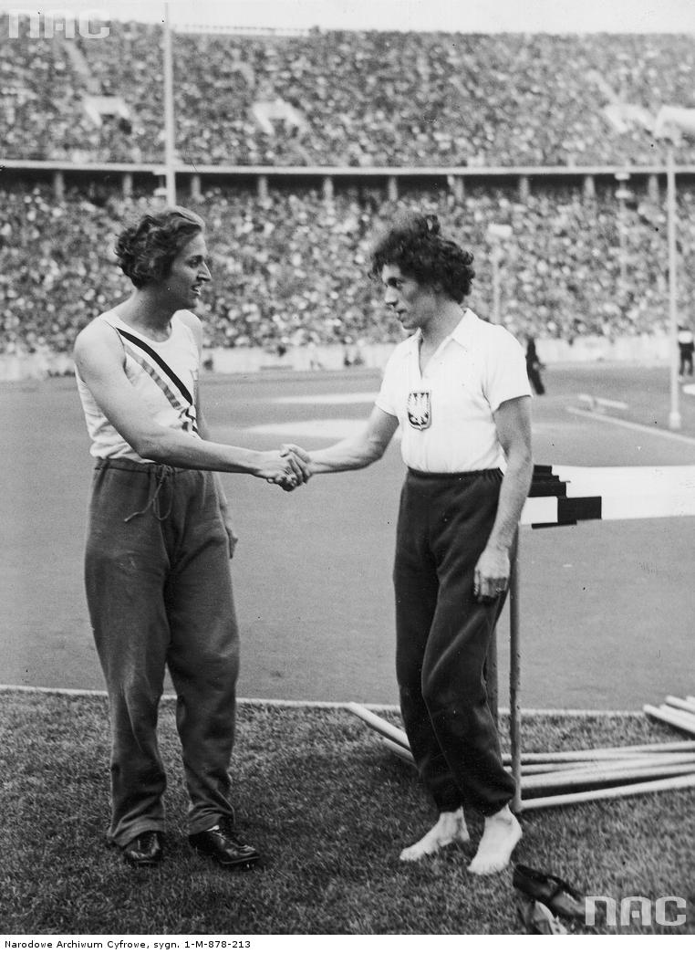 Walasiewicz on the right (changed her last name to Walsh) set over one-hundred national and world records, including fifty-one Polish records, eighteen world records, and 8 European records. Her success did not come without controversy. Walsh was thought to be a man, despite birth records that clearly indicated she was female. She was killed during an armed robbery  in 1980, an autopsy confirmed that she possessed male genitalia. A detailed investigation later revealed that Walsh was born with both an XX and an XY pair of chromosomes.