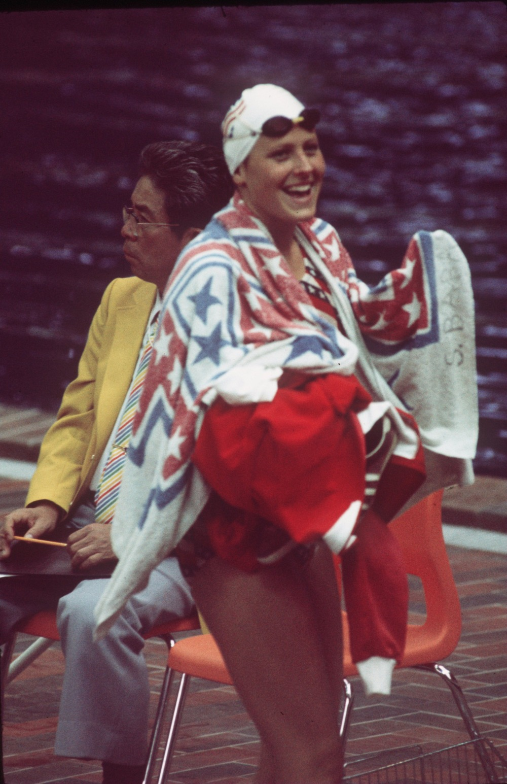 The USA Women's team had high hopes for the 1976 Montreal Olympics, but seemed to come up short again and again, usually against swimmers from East Germany. In the 4 x 100 Free Relay, they said enough is enough and swam above their apparent abilities. In an awesome team performance, Kim Peyton, Jill Sterkel, Shirley Babashoff, and Wendy Boglioli took the gold.