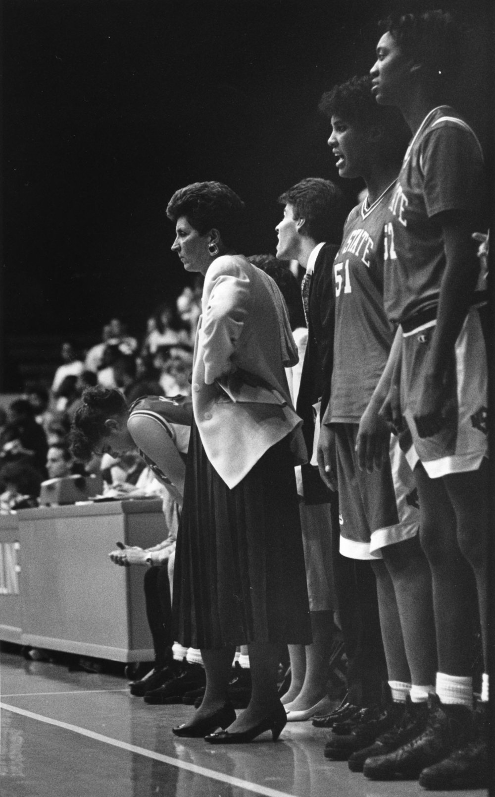 "Yow spent 34 years as the head coach at NC State, leading the Wolfpack to 20 NCAA Tournament appearances during that stretch. She also coached the 1988 Olympic team to a gold medal, and with 737 career wins, she is one of seven women's coaches in the Naismith Hall of Fame. Her impact off the court was no less significant, and through the cancer research fund that she established in 2007 her legacy continues to touch people outside the world of basketball.""I feel like I had zero control over getting cancer, but I have 100 percent control over how I will respond to dealing with cancer. I'm battling an opponent, the greatest opponent, the greatest foe that I've battled. The home court of the archrival is nothing in comparison to this. Kay, don't wallow in self pity. You know you will drown. It's ok at moments to have some pity but swish your feet and get out. Just swish and get out.When life kicks you, let it kick you forward. Never let the urgent get in the way of the important."" #playforkay"