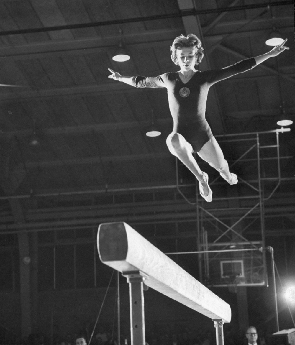 Former Soviet gymnast and 18 time Olympic medallist who stills holds the record for most individual event medals (14).  Latynina won five gold medals at the 1958 World Championships, competing while four months pregnant with her daughter Tatyana, a secret she kept hidden from her coach during the competition.
