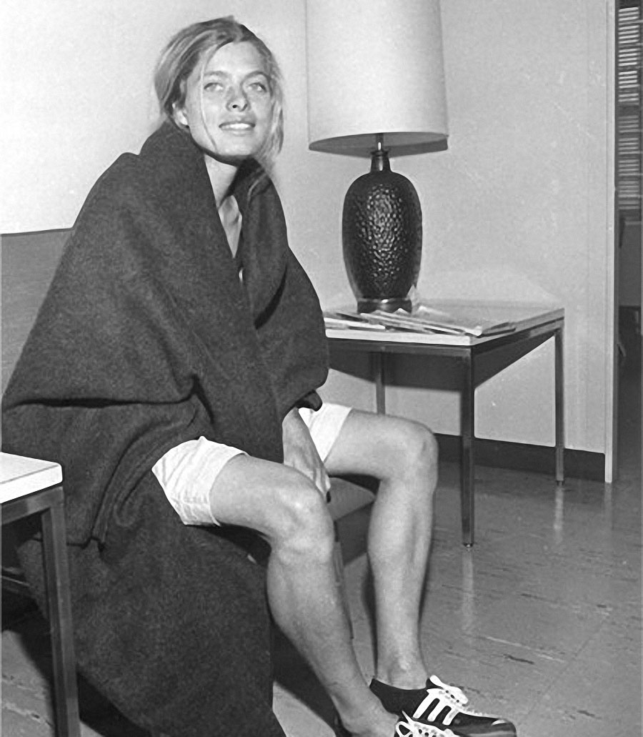 "In 1966, 23 year old Gibb became the first woman to run the Boston Marathon, effectively breaking the gender barrier for long distance running. Prior to the race, Gibb spent two years training for the competition, only to receive notice from race director Will Cloney that she was ineligible to compete.  Cloney and the Amateur Athletic Union (AAU) felt that women were ""not physiologically capable"" of running such grueling distances.  Undeterred, Gibb dressed in an oversized sweater and shorts and hid in the bushes near the starting line.  Gibb later snuck in and joined the other runners, finishing the race in 3:21:40. Thirty years after her historic finish, the Boston Athletic Association retroactively recognized her as the women's winner in the 1966, 1967 and 1968 marathons. Gibb now works as a researcher, studying neurodegenerative diseases in San Diego and Boston."