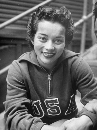 Asian American Draves took home the first gold medals awarded to women in platform and springboard diving at the 1948 Olympics.  Born to a Filipino father and English mother, Draves' first coach segregated her from other divers at her swimming club, owing to her Filipino last name.  She was instructed to change her last name to her mother's maiden name in order to compete.  Along with fellow athlete Sammy Lee, Draves became the first divers of Asian descent to win Olympic gold.  Following the Olympics, she toured internationally in water show and later operated a diving training program with her husband in California.  Draves was inducted into the International Swimming Hall of Fame in 1969.