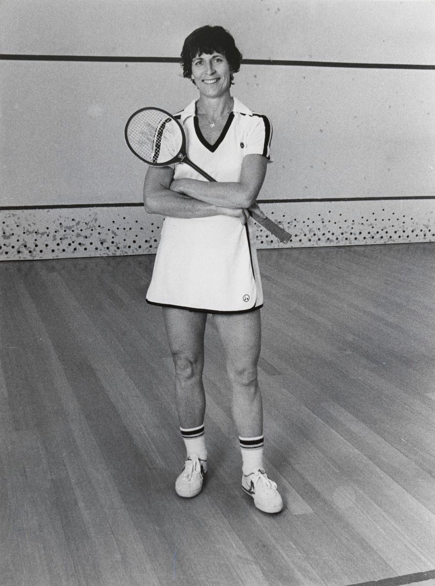 Heather McKay is a retired Australian squash player who is considered by many to be the greatest female player in the history of the game, and possibly also Australia's greatest-ever sportswoman.  She won every women's title at the British Open (the de facto championship) from 1962 until 1977. After retiring from the sport in 1979, McKay turned her sights to racquetball and almost instantly became a sensation, reaching the semifinals of her first invitational tournament without even knowing how the game was played.