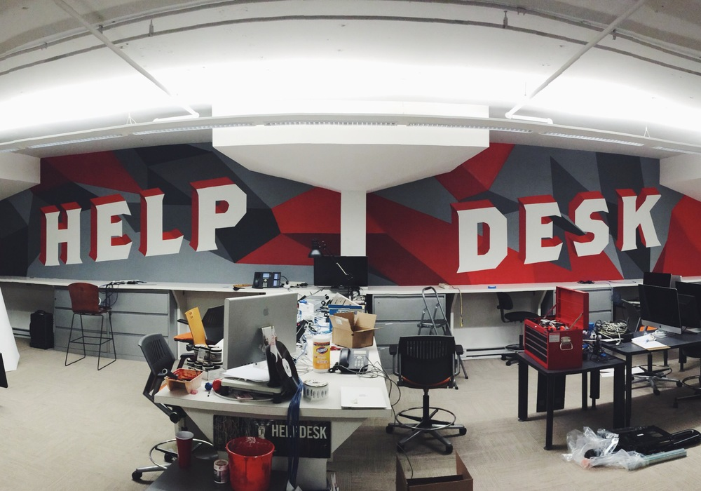 IT Help Desk mural by Casey Ligon