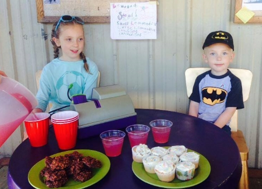 Lemonade and treats for sale!